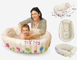 tiny tots inflatable baby bath tub portable travel bathtub sensor