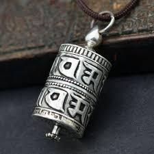 t9057 tibetan mantras prayer box amulet pendants nepal 925 sterling silver locket box nfgv1934