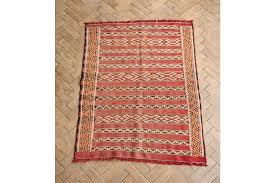 vintage moroccan flat woven kilim rug 135 x 101cm mid century vinterior