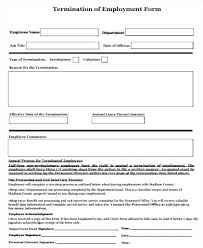 Nice Employment Termination Form Template Ideas Example Resume And ...