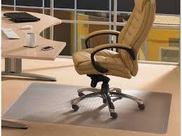 office wonderful rectangle gray cotton fiber computer chair mat cream polyester fiber carpet chrome computer desk chair legs brown leather seat cushion