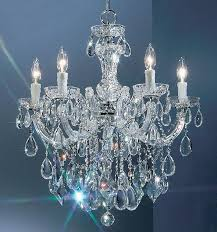 provincial vintage marie therese crystal chandelier 5 arm lamp free led bulbs