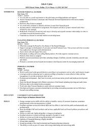 Personal Banker Sample Resume Personal Banker Resume Samples Velvet Jobs 2