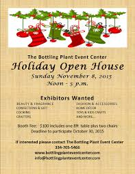 christmas open house flyer holiday open house flyer event center downtown