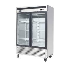 new 2 door merchandising freezer atosa model mcf 8703
