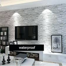 morn style wallpaper stone brick sign background wall waterproof pare rolls touch flower design malaysia