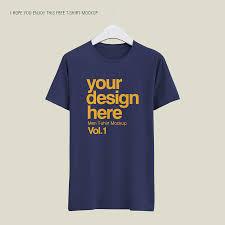 Mockup Shirt Design Men T Shirt Psd Template Download Free Designhooks