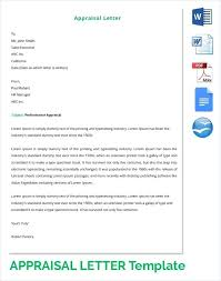appraisal letter general sales manager cover letter template performance appraisal