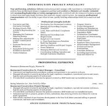 Construction Project Manager Resume Sample Project Manager Resume Examples Samples Pdf Construction Free 87