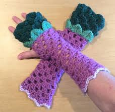Dragon Scale Fingerless Gloves Pattern Free Amazing Design