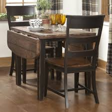 small square kitchen table: small kitchen table with leaf that using vintage metal hinges and solid walnut worktop also square