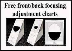 Pentax Dslrs Part 1 Autofocus Adjustment Charts For Front