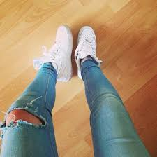 womens nike air force 1 white. Jeans Nike Shoes White Air Force Ones High 1 Womens