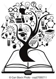 education icons tree up from book csp27005711