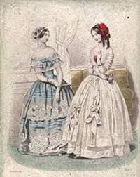 corsets crinolines in victorian fashion victoria and albert museum fashion plate from the petit courier des dames 1845
