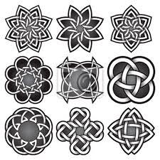 Fototapeta Sada Logo šablon V Keltském Stylu Uzlů Tribal Tetování Symboly