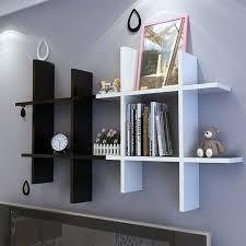 floating wood kitchen shelves homdox wooden white black elegant wall hanging shelf bedroom books