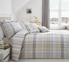 dreams ds rathmore checked bedding range silver free delivery over 30 on all uk orders