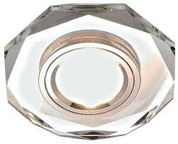 Купить Встраиваемый <b>светильник Ambrella light</b> 8020 CL, хром по ...