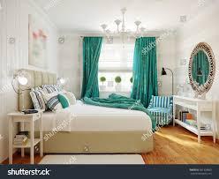 Modern Turquoise Bedroom Design Bright Cozy Modern Bedroom Interior Design Stock