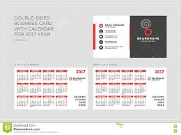 019 Template Ideas Double Sided Business Card Calendar Year Week