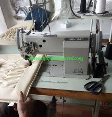 used hailing brand single needle three synchronous thick material sewing machine leather thick material car mat seat industrial sewing machine
