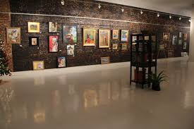 Display Picture Lighting Focus On Framed Wall Picture On Rustic Accent  Brick Wall Also White ...
