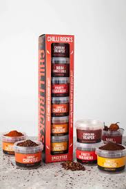 chilli rocks world s hottest chillies gift set
