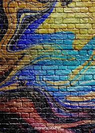 art ink graffiti brick wall background