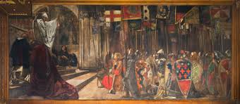 edwin austin abbey the quest for the holy grail part 4 the knights of the round table set forth on the search for the holy grail 1895