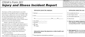 Injury Incident Report Template Enchanting Brief Tutorial On Completing The OSHA Recordkeeping Forms Text