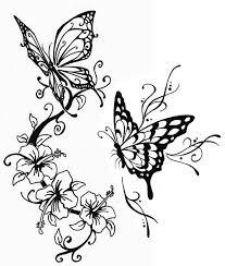 Kleurplaten Voor Volwassenen Vlinders