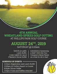 2020 Spikes Golf Outing Flyer Spikes Softball