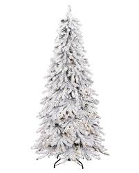 Snowy Spruce Flocked Artificial Christmas Tree. rollover to zoom in