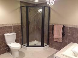 Stand up shower bathroom