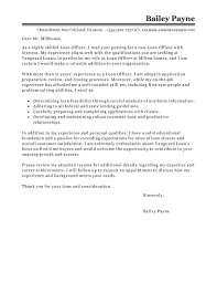 Letters Of Application Best Loan Officer Cover Letter Examples Livecareer