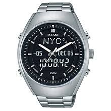pulsar watches h samuel pulsar men s world time stainless steel bracelet watch product number 5293014