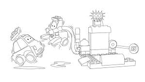 Lego Coloring Page Catch The Crooks Coloring Pages Lego Batman
