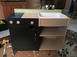 Homemade Play Kitchen My Upgrade Of A Homemade Play Kitchen For My Kiddo Album On Imgur