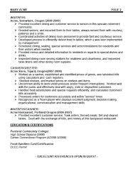 Example Of A Waitress Resume Cover Letter Waitress Waitress Resume