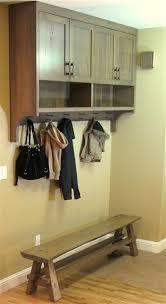 Coat Rack Cabinet Cool Entryway Coat Rack Cabinet Bench Intelligent Design Woodwork