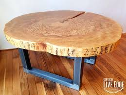 live edge round table coffee tables wood slice coffee table elegant round live edge industrial tree log rustic of slab live edge table top canada