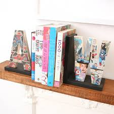 Comic Book Letter Bookend Gift For Him