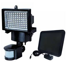 LED SolarPowered Outdoor Light With Motion Sensor  Contemporary Solar Sensor Security Light