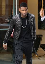 usher wears emporio armani quilted er jacket alexandre plokhov asymmetrical pants and balenciaga arena sneakers in nyc upscalehype