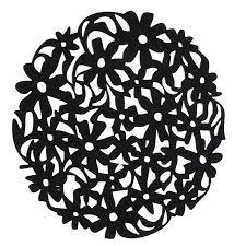 image is loading round laser cut flower felt placemats kitchen dinner