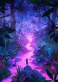 ArtStation - Neon Jungle, Sylvain Sarrailh