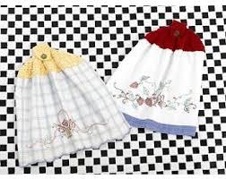 Crochet Towel Topper Pattern Beauteous Tea Towel Topper Pattern Crochet Lion Brand Yarn