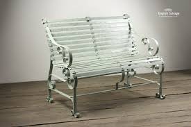 2 seater green ironwork garden bench