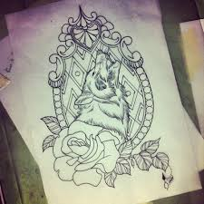 frame tattoo designs. Wolf Frame Tattoo Designs